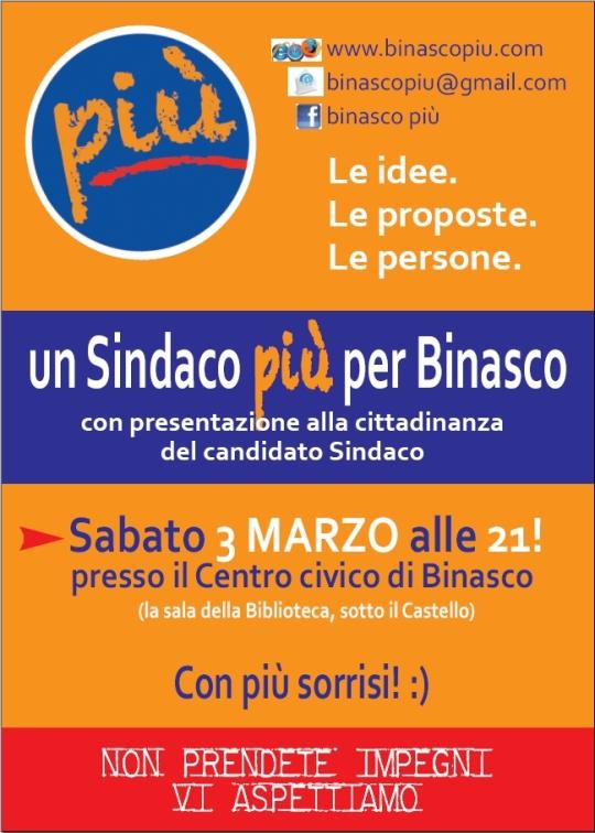 3 marzo 2012 - presentazione Candidato Sindaco