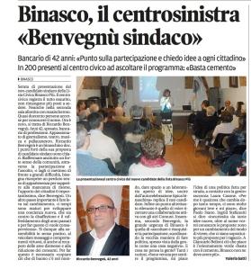 articolo Provincia Pavese 5 marzo 2012