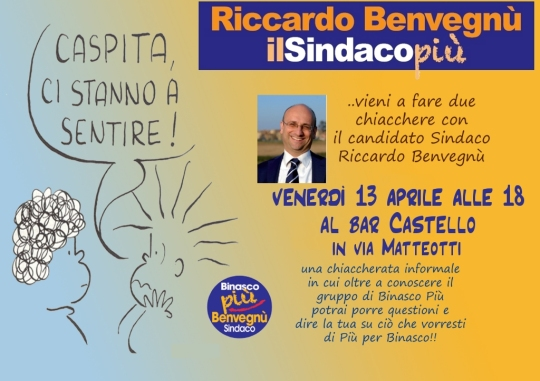 Due chiacchiere col candidato Sindaco