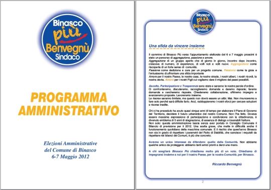 Il programma Binasco PIU'