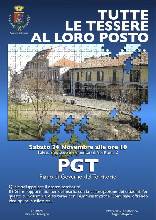 Incontro pubblico sul PGT 24 novembre 2012
