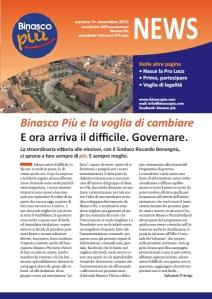 Newsletter novembre 2012