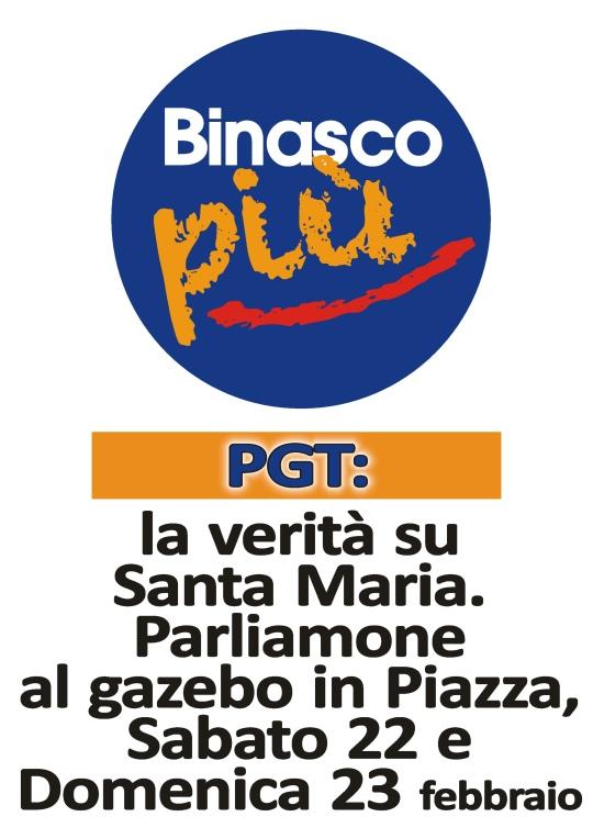 22-23 febbraio - Gazebo in piazza
