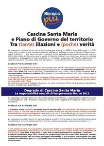 Casina S.Maria e PGT: tra (tante) illazioni e (poche) verità