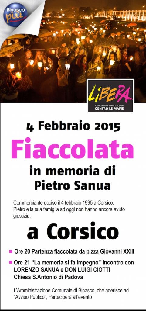 Fiaccolata 4 febbraio 2015 a Corsico